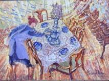 "Lorraine Ficara, ""Brilliant Tea Time"", oil, 18x24, $618"