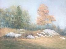 "Donna Gilberto, ""Autumn Hilltop, Old Lyme"", oil, 12x16, $1,200"