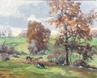 """Michael Graves, """"Cows in the Pasture"""", oil, 16x20, $2,800"""
