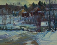 "Michael Graves, ""Dona's Farm - Award of Merit"", oil, 24x30, $6,800"