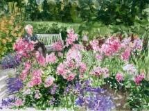 "Dawna Hasara, ""Miss Florence's Garden"", watercolor, 12x16, $350"
