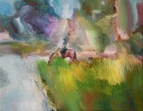"Sunil Howlader, ""Daybreak"", oil, 16x20, $1,600, Third Place"