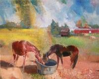 "Sunil Howlader, ""Friendship"", oil, 16x20, $1,600"