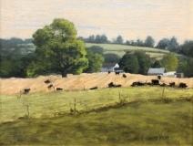 """Laureen Hylka Wondolowski, """"Farmland"""", oil, 8x10, $985"""