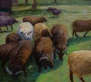 "Karen Israel, ""Family Style"", pastel, 12.5x14, $925"