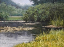 """Christine D Ivers, """"Revisiting Calming Waters"""", pastel, 11x14, $450"""