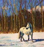 "Elaine Juska Joseph, ""The Colors of Winter"", pastel, 17.5x16.5, $900"