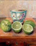 "Henie Kurzman, ""Limes"", pastel, 9.75x8, $450"