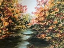 "Elin Larson, ""Eight Mile River"", watercolor, 12x16, $450"