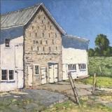 """Jim Laurino, """"Mennonite Farm, - Womelsdorf, PA"""", oil, 18x18, $2,200"""