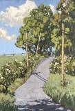 """Jim Laurino, """"Raspberries Calhoun Hill"""", oil, 14x20, $2,000"""