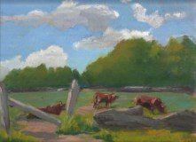 """Suzanne Lewis, """"Summer Afternoon"""", oil, 9x12, $200"""