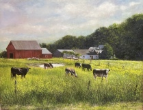 """Stephen Linde, """"Gracefully Grazing"""", oil, 14x18, $1,500"""
