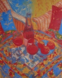 """Sarah Stifler Lucas, """"Sumptuous Summer"""", oil, 30x24, $3,200"""