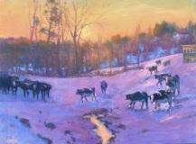 "Barbara Lussier, ""Follow Me"", oil, 18x24, $3,400"