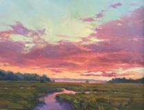 "Barbara Lussier, ""Pink Clouds"", oil, 24x30, $7,000"