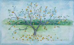 """Michael Lynch, """"Lapsleys"""", watercolor, 14x20, $300"""