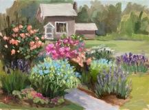 "Linda Marino, ""Garden Path to Studio"", oil, 9x12, $500"