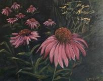 """Linda McCarthy, """"Parade of the Coneflower"""", oil, 11x14, $525"""