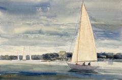 "Lisa Miceli, ""Light Air"", watercolor, 15x22, $750"