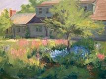 "MaryAnne Miller-Baker, ""Clad in a Green Hue"", oil, 12x16, $1,500"
