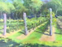 """Marilee B. Noonan, """"The Vineyard"""", oil, 11x14, $250"""