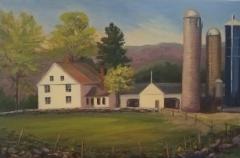 "Jeanne OBrien, ""Springtime At Tiffany Farm"", oil, 12x18, $625"