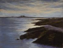 "Jane Penfield, ""Star Island Morning"", pastel, 12x16, $900"