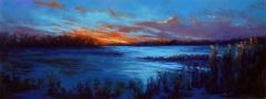 "Judy Perry, ""Bright Beginning"", pastel, 10x24, $1,500"