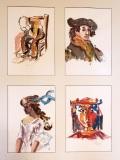 "Richard Raicik, ""Tribute to the Masters"", watercolor, 28x36, $800"
