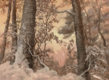 "Elizabeth Rhoades, ""Having Faith"", oil, 12x16, $1,400"