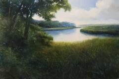 "Janine Robertson, ""Meadow Grass"", oil, 24x36, $2,900"