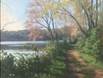 """Neil Scollan, """"Along the lake"""", oil, 11x14, $450"""