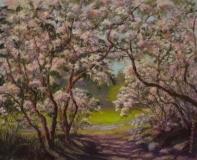 "Patricia Seekamp, ""Path Under the Laurel"", pastel, 17.5x20, $575"