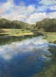 "Patricia Shoemaker, ""Cloud Reflections"", pastel, 16x12, $1,200"