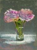 "Patricia Shoemaker, ""Peonies"", pastel, 16x12, $1,200"