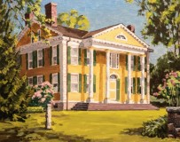 """Bill Sonstrom, """"The Florence Griswold House"""", oil, 16x20, $1,200"""