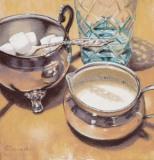 "Karen Suponski, ""Breakfast At Tiffany's"", pastel, 10.5x11, $700"