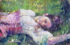 "Jessica Turgoose, ""Meadow Muse"", pastel, 18x24, $500"