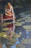 "Cean Youngs, ""Gentle Spirit"", oil, 30x20, $10,000"
