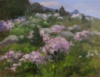 "Cean Youngs, ""Old Lyme Hillside(plein-air)-Award of Merit"", oil, 11x14, $2,500"