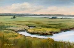 "Lorraine Yurkewicz, ""North Cove Early Summer"", oil, 12x18, $650"
