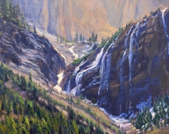 "Jacqueline Jones, ""Upper Bear Creek"", oil, 30x30, $4,000"