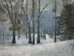 "Susan Termyn, ""Winter Mood"", oil, 30x40, $4,000"