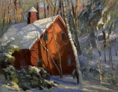 "Susan Termyn, ""First Snow"", oil, 24x30, $3,200"
