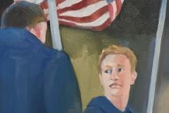 """Michael Centrella, """"America, America…"""", oil, 24x18, $2,200"""