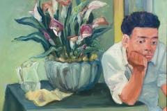 """Michael Centrella, """"Luis con los Alcatraces"""", oil, 16x20, $2,000"""
