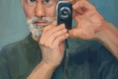 """Michael Centrella, """"Say Cheese (Selfie Squared)"""", oil, 24x18, NFS"""