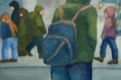 """Michael Centrella, """"Snow Squall"""", oil, 18x14, $800"""