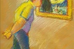 "Michael Centrella, ""Stars in My Eyes"", pastel, 22x17, $800"